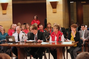 MNA members testify about S.F. 1071, workplace violence prevention bill on March 11